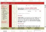 Interface du site des Editions Gallimard