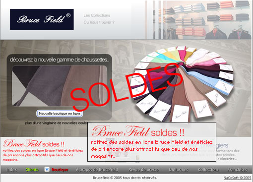 Les soldes made in Bruce Field