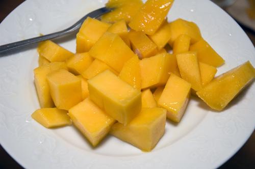 Assiette de mangue