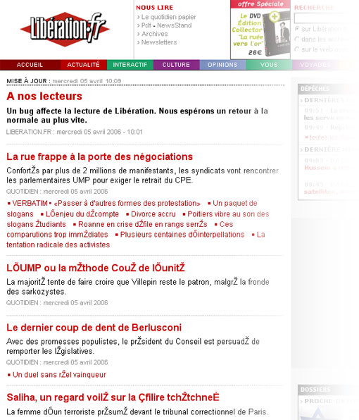 Bug de Libération