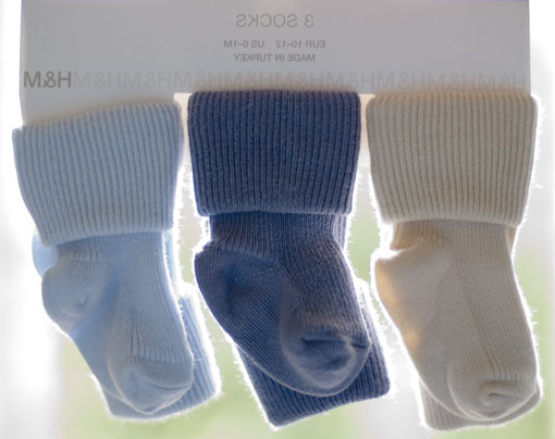 Three little socks